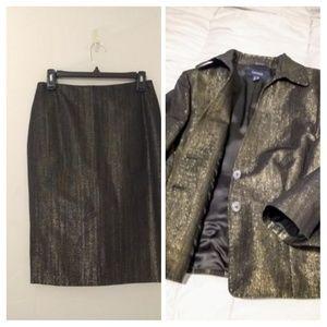 Cantarelli Italian 2pc Metallic Jacket & Skirt